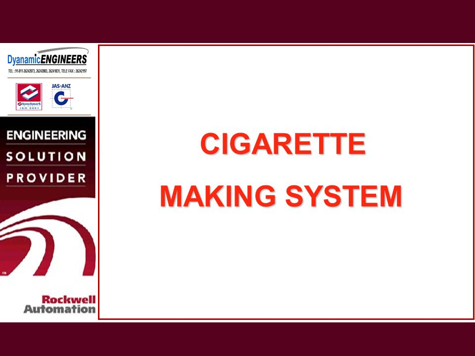 CIGARETTE MAKING SYSTEM