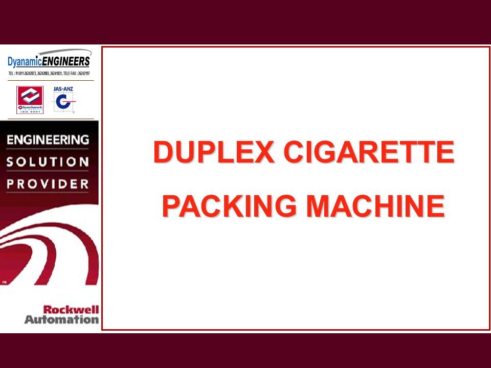 DUPLEX CIGARETTE PACKING MACHINE