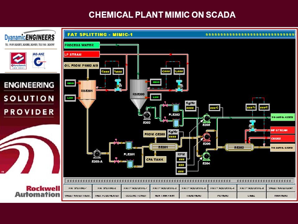 CHEMICAL PLANT MIMIC ON SCADA