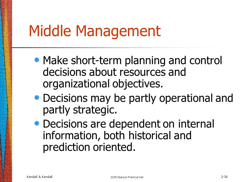 Middle Term Planning : Systems analysis and design kendall sixth