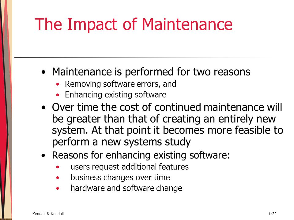 impact of maintenance activities on the The lack of maintenance and not maintenance which a profit contributor how does maintenance technical impact transfer to the plant other activities such as.