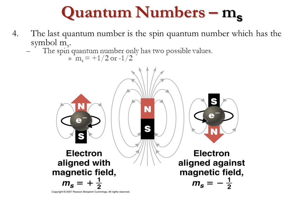 quantum numbers A quantum number describes the energies of electrons in atoms each quantum number specifies the value of a conserved quantity in the dynamics of the quantum system since any quantum system can have one or more quantum numbers, it is a futile job to list all possible quantum numbers.