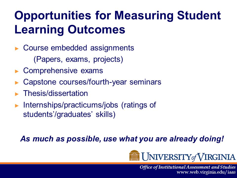 thesis about learning outcomes Learning outcome the purpose of the bachelor´s thesis is to give students an op portunity – by working in depth with a limited subject area.