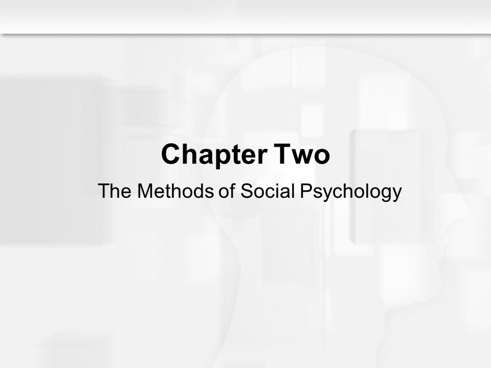 The Methods of Social Psychology