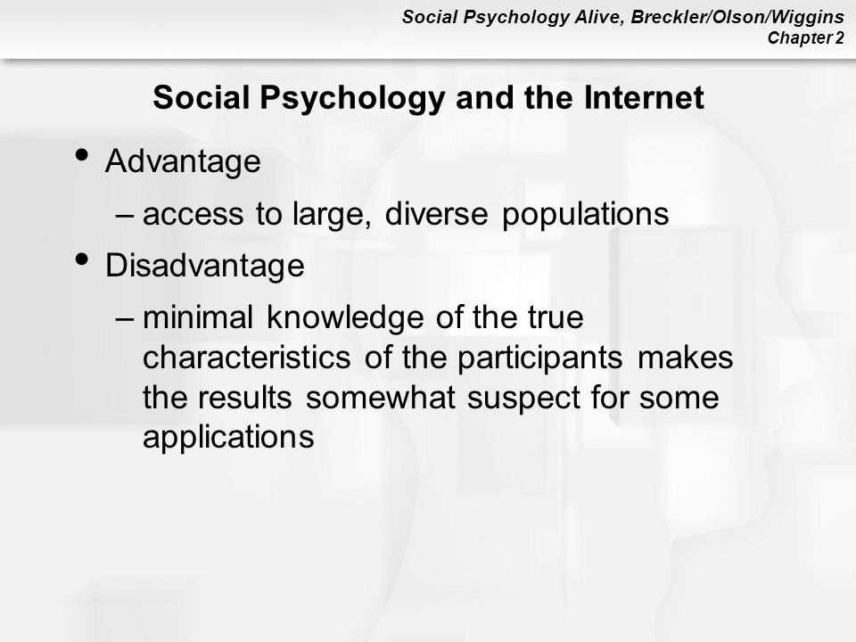 Social Psychology and the Internet