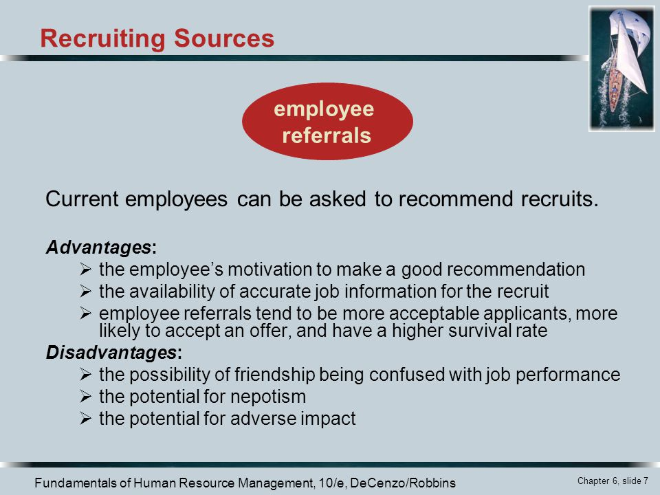Recruiting Sources employee referrals
