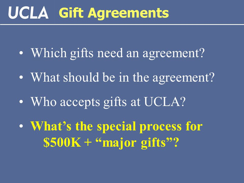 Fundamentals of Gifts at UCLA March 9, ppt download