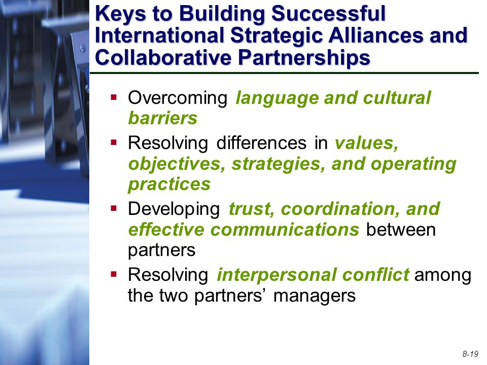 Keys to Building Successful International Strategic Alliances and Collaborative Partnerships