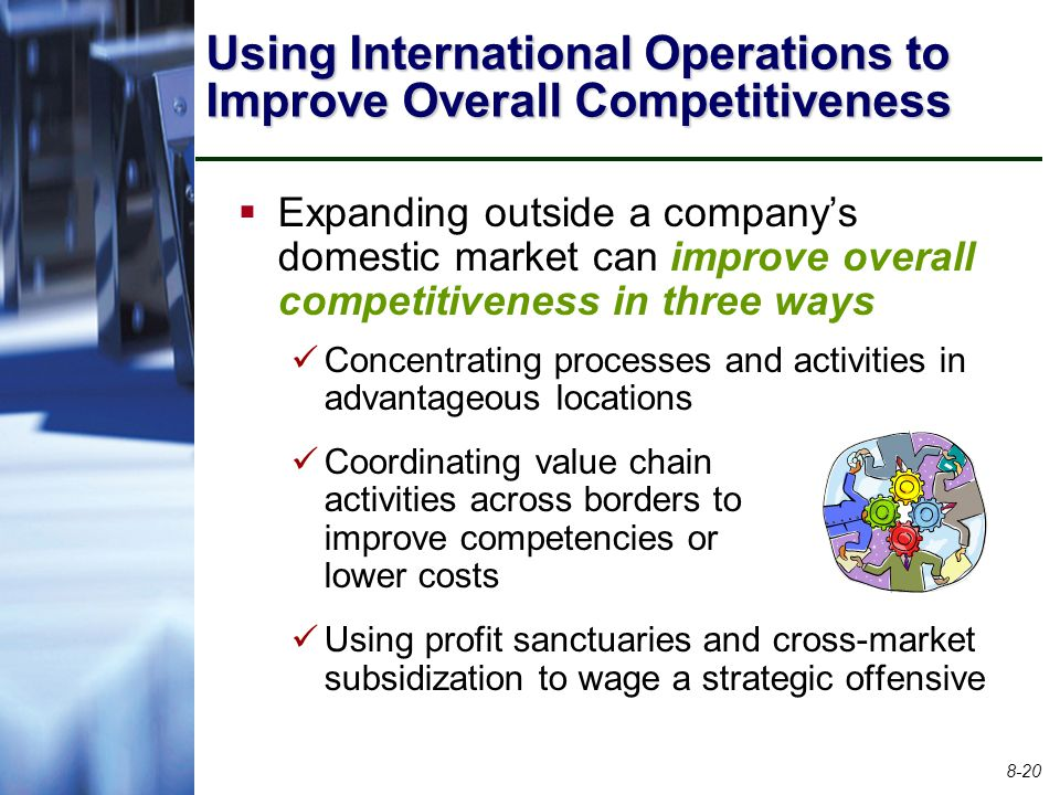 Using International Operations to Improve Overall Competitiveness