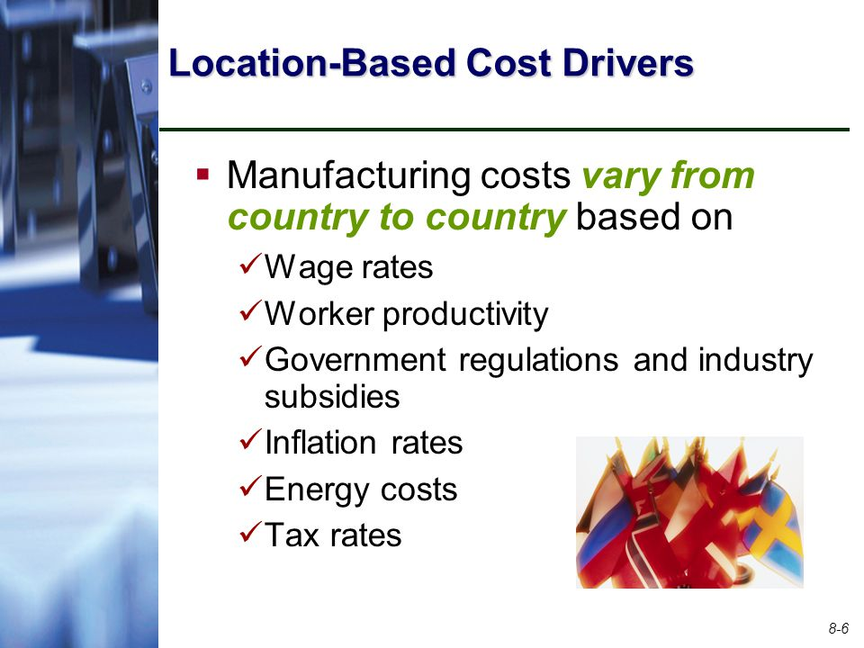 Location-Based Cost Drivers