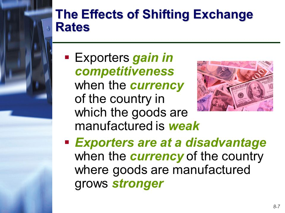 The Effects of Shifting Exchange Rates