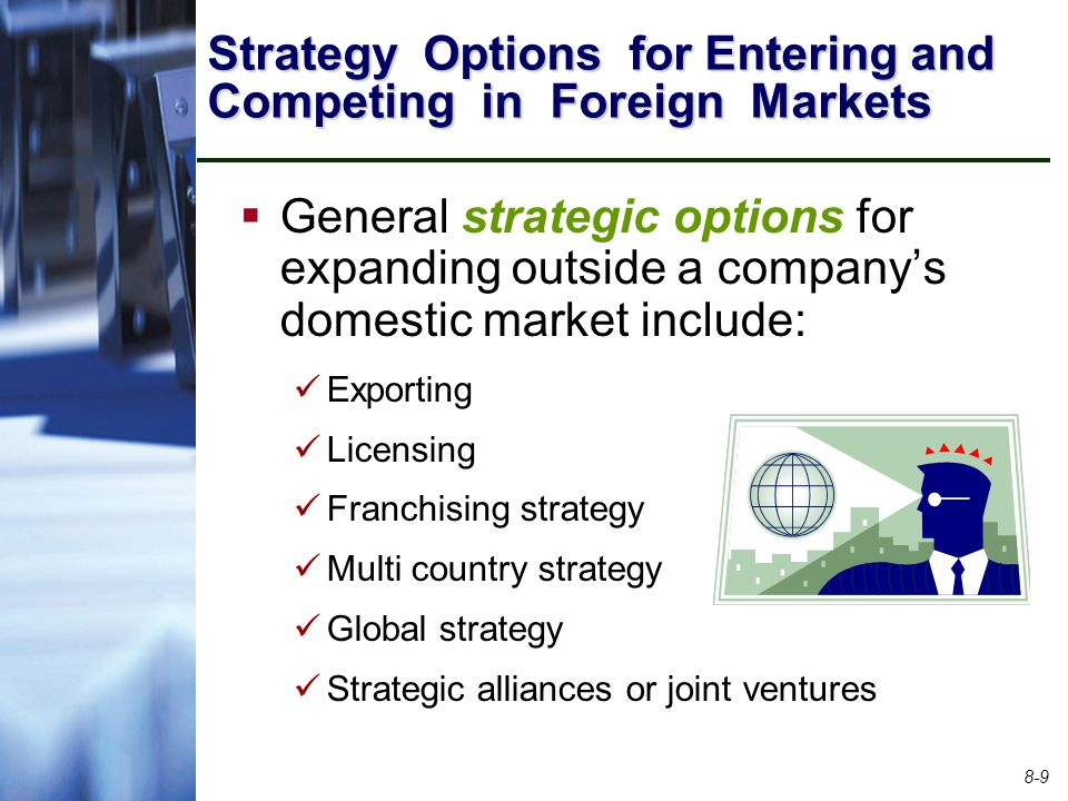 Strategy Options for Entering and Competing in Foreign Markets