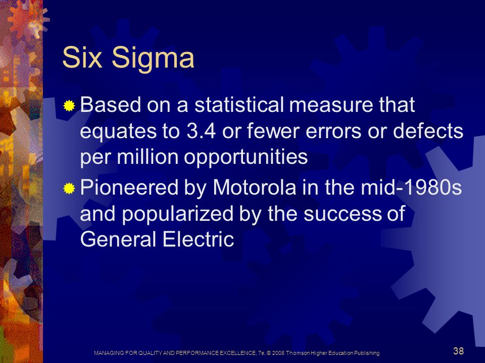 general electric six sigma How ge uses six sigma to drive security roi francis x taylor, general electric's chief security officer, explains how to apply process improvement methods to manage security risks.