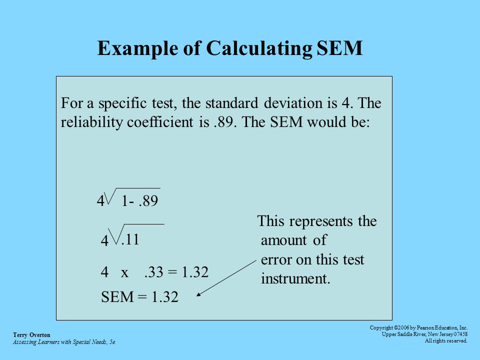 Example of Calculating SEM