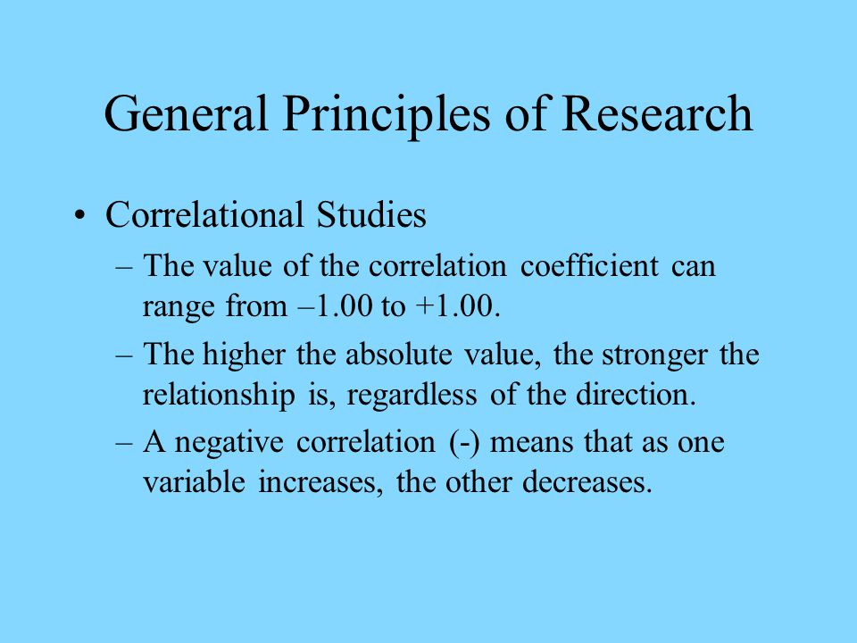 General Principles of Research