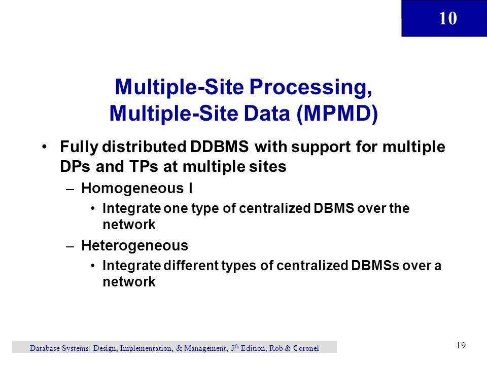 Multiple-Site Processing, Multiple-Site Data (MPMD)