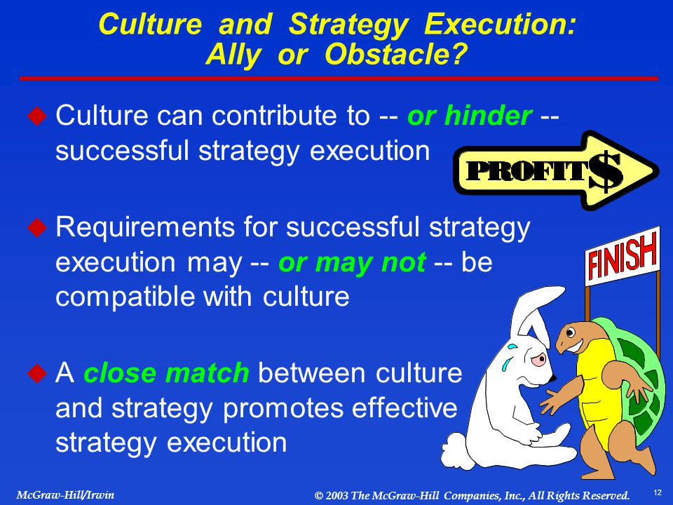 corporate culture and strategy implementation Read more about aligning strategy with culture on business standard  a  change in culture was, thus, a key to achieving strategy implementation   building an organisational culture that supports strategic objectives and.