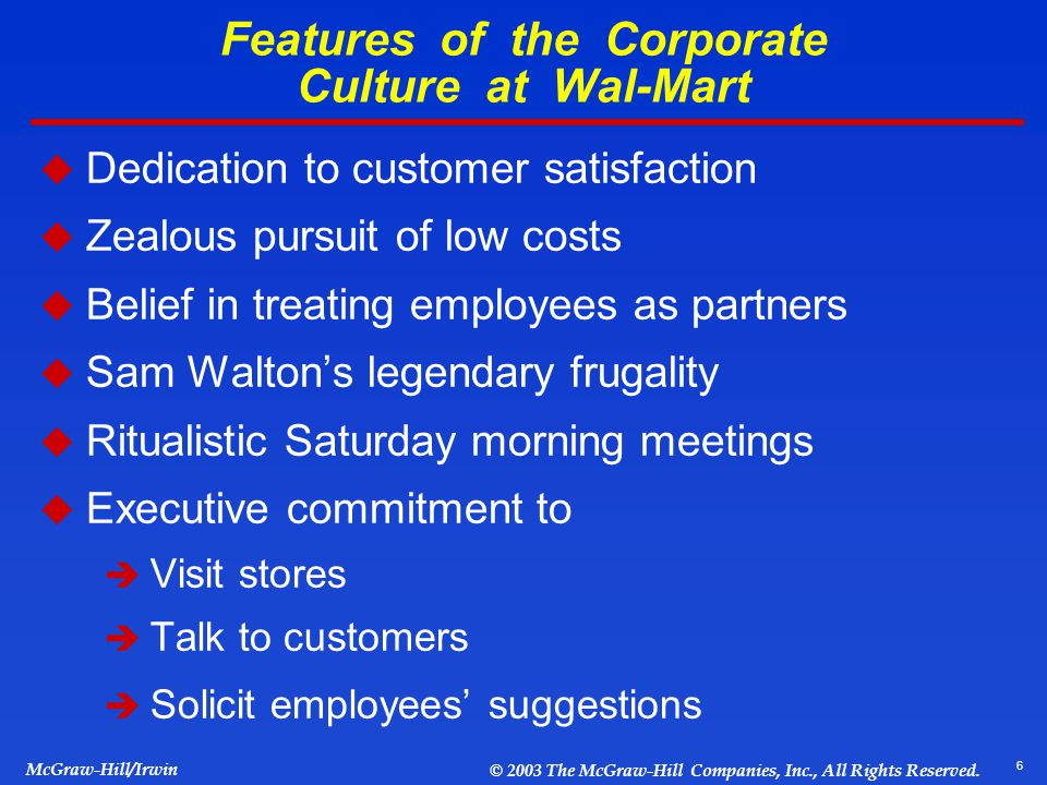 organizational culture at wal mart essay Free essay on wal-mart case study and history available totally free at echeatcom, the largest free essay the organization has faced wal-mart company culture.