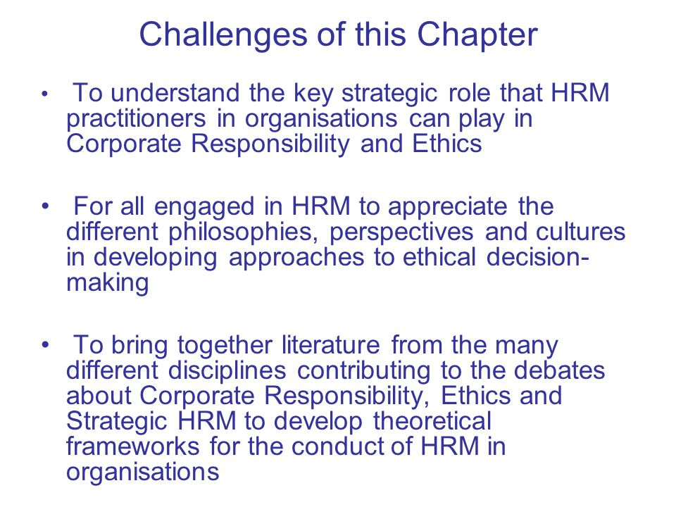 ethical issues in hrm strategy essay Essay from the year 2002 in the ethics in human resource management ethical eclecticism ethical egoism ethical hrm action ethical issues ethical questions.