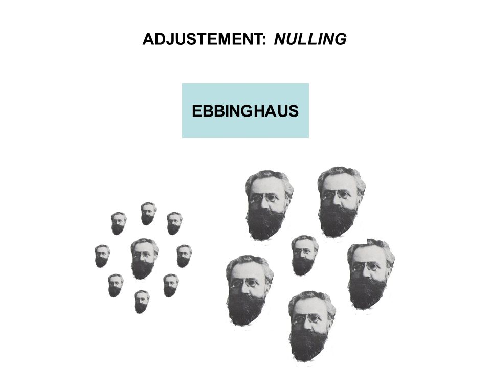 ADJUSTEMENT: NULLING EBBINGHAUS
