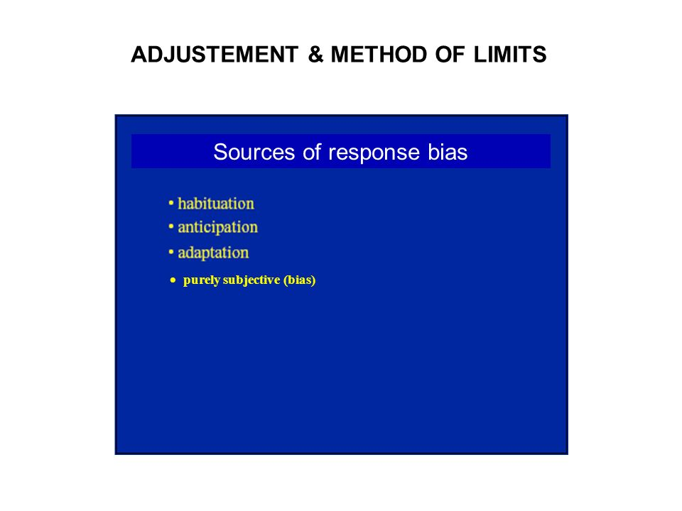 Sources of response bias