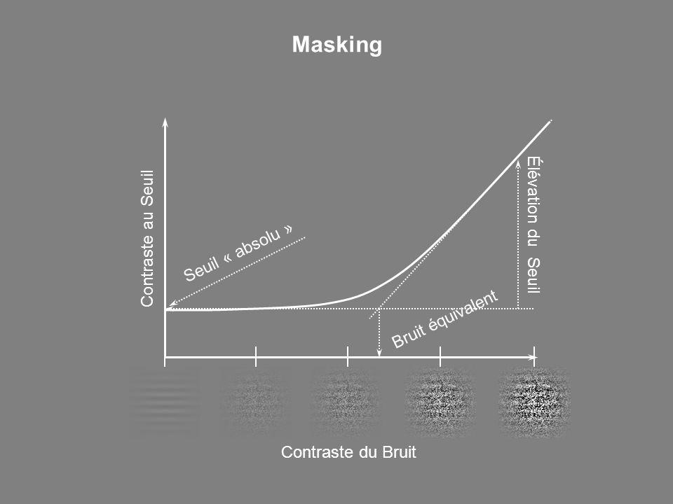 Masking Élévation du Seuil Contraste au Seuil Seuil « absolu »