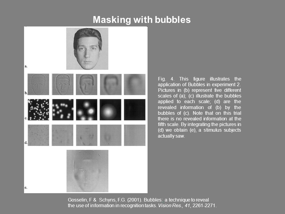 Masking with bubbles