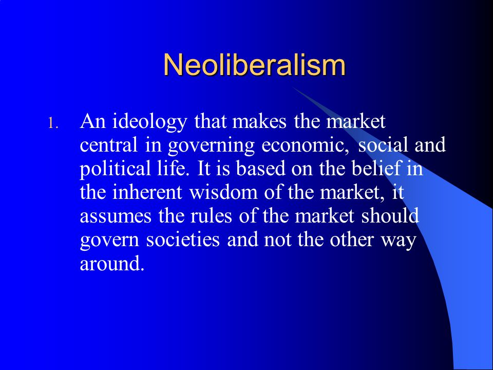 neoliberalism and social work