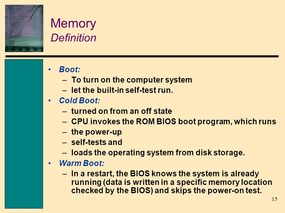 the central processor and memory ppt