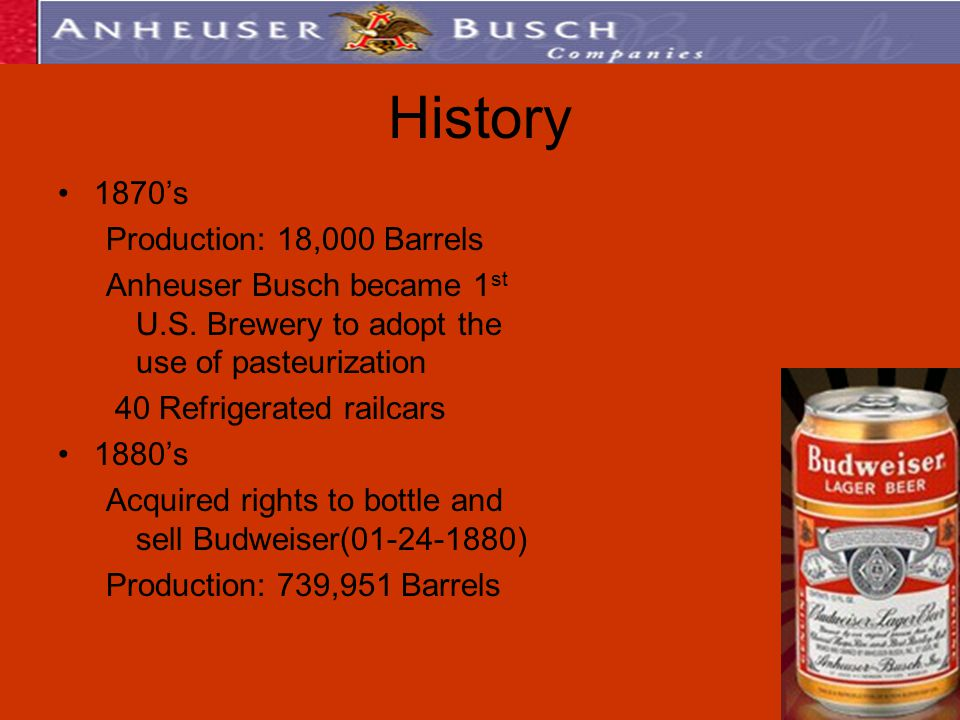 a history of the bavarian brewery established by george schneider and eberhard anheuser Today, anheuser-busch has some of the most innovative brewing,  1852: st  louis soap merchant eberhard anheuser acquires the bavarian brewery  1984 : through licensed brewers, budweiser is introduced in england and japan  in  st louis, bought a failing brewery from bavarian immigrant george schneider.