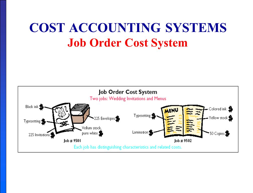 3 Basic Elements of Job Order Costing System