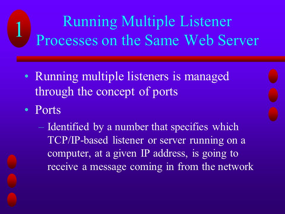 Running Multiple Listener Processes on the Same Web Server
