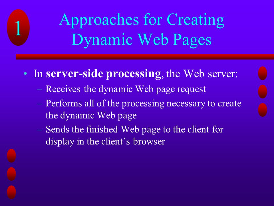 Approaches for Creating Dynamic Web Pages