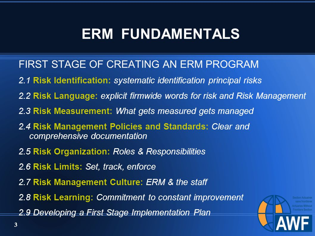 enterprise risk management outline