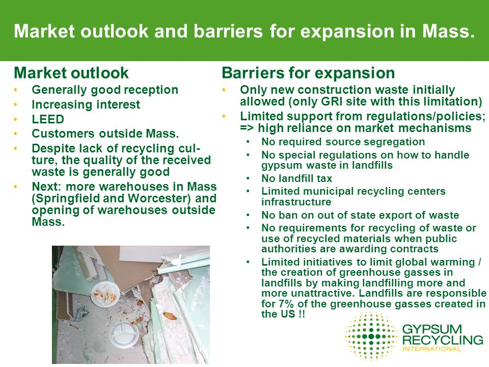 Market outlook and barriers for expansion in Mass.