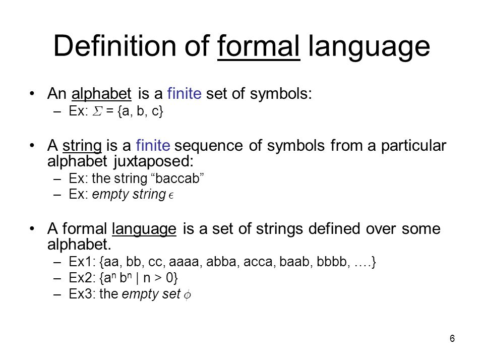 Languages Grammars And Regular Expressions Ppt Video