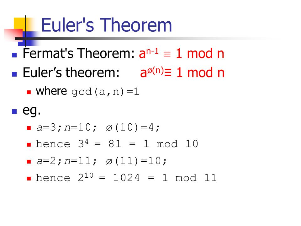 Chap. 8,9: Introduction to number theory and RSA algorithm ...
