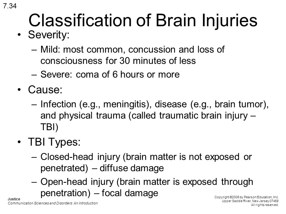The causes and common types of traumatic brain injuries