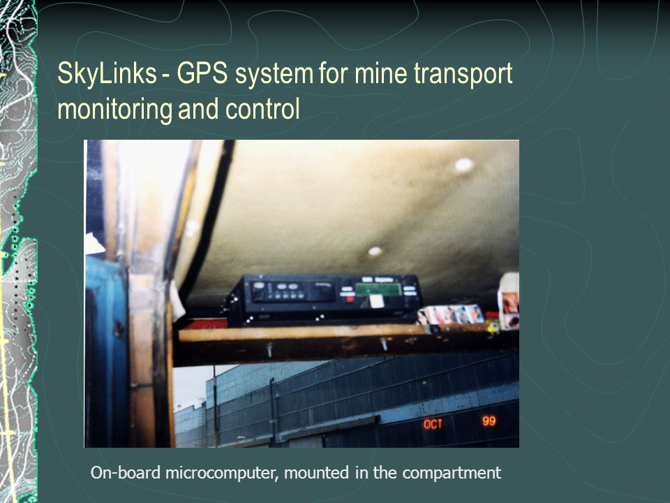 SkyLinks - GPS system for mine transport monitoring and control