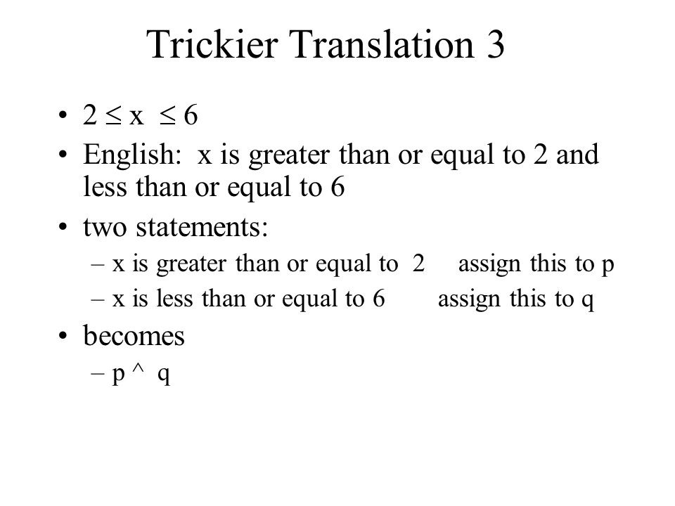 Trickier Translation 3 2  x  6