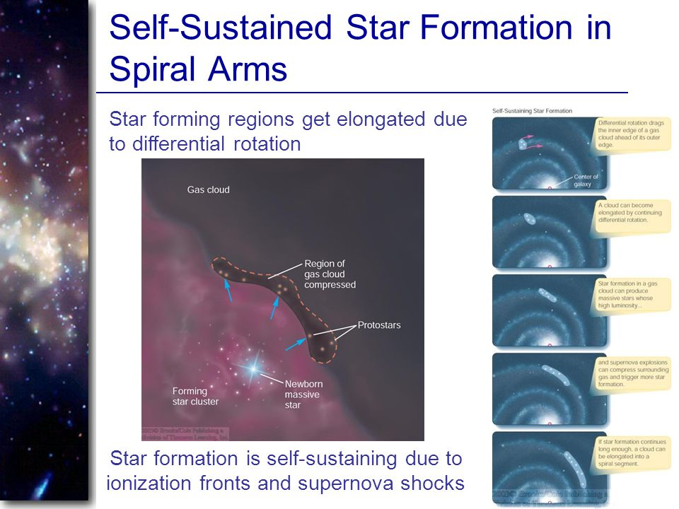 Self-Sustained Star Formation in Spiral Arms