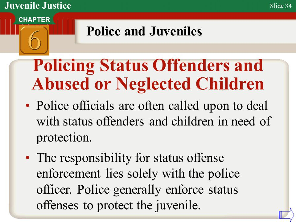 juvenile status offense The number of court petitioned juvenile status offenses cases more than doubled in addition, a 1999 report by ojjdp, juvenile offender and victims,estimated that 162,000 status offense cases were formally processed by courts in 1996 of that number,39,300 were truancy.