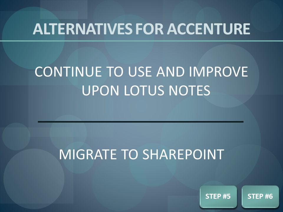 Alternatives for accenture