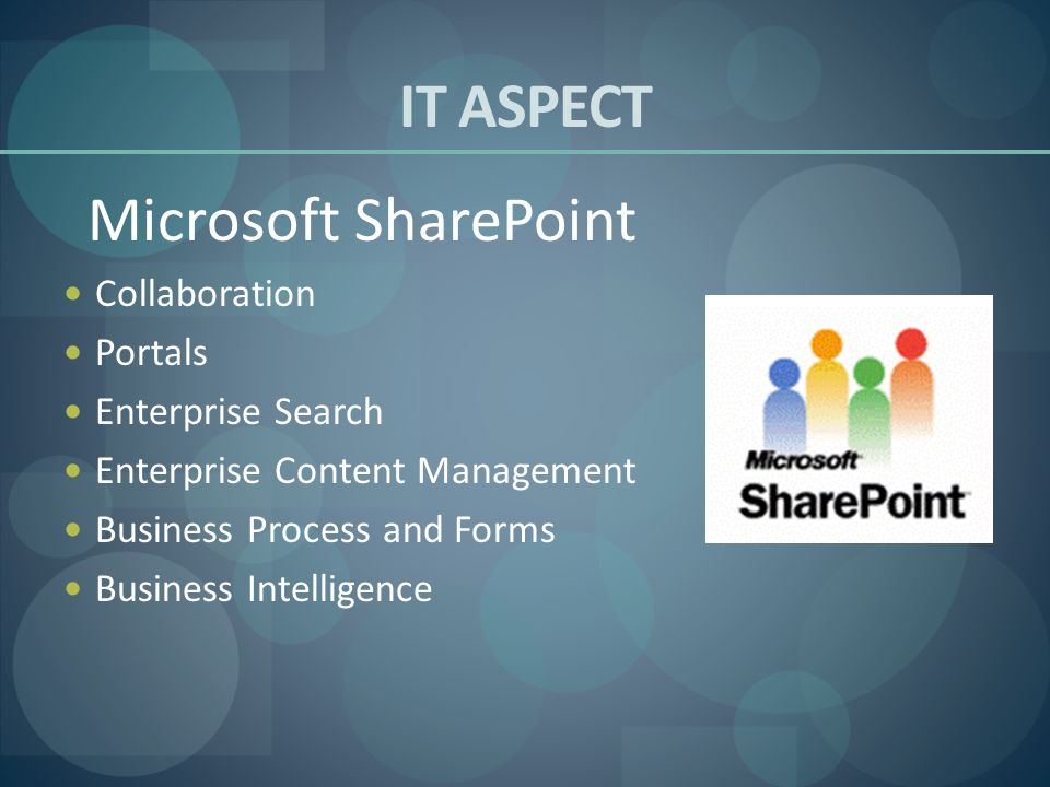 IT ASPECT Microsoft SharePoint Collaboration Portals Enterprise Search