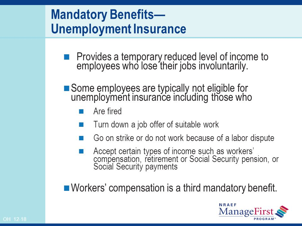 what is meant by mandated benefit Requires coverage of some state-mandated benefits, ca, de, dc, ga,   meaning that these plans are not viable options for most individuals,.