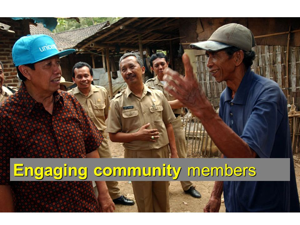 Engaging community members