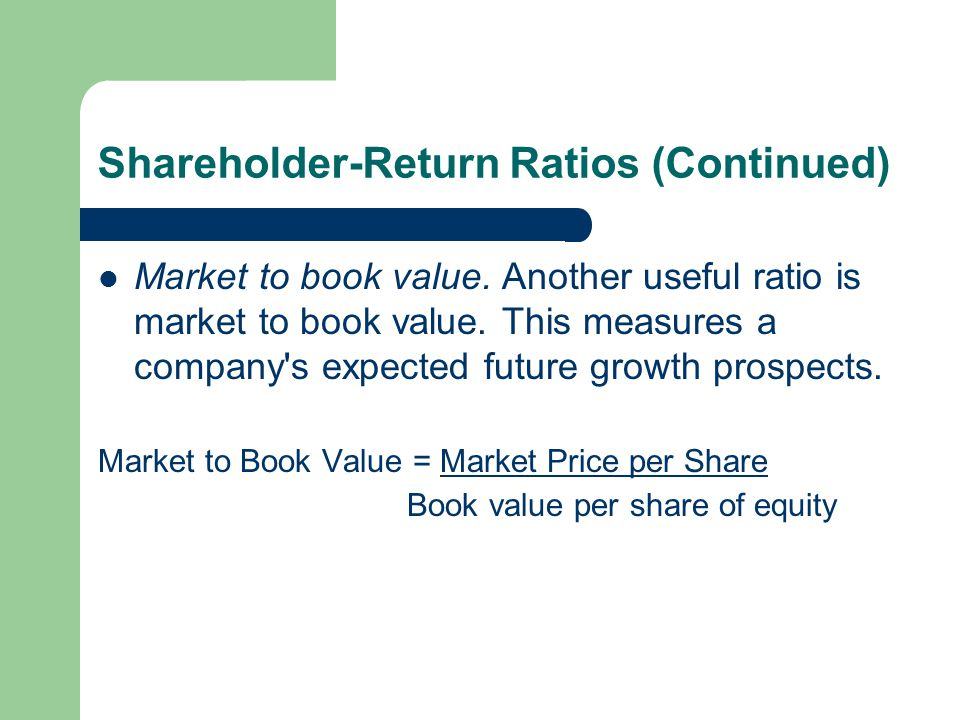 Shareholder-Return Ratios (Continued)