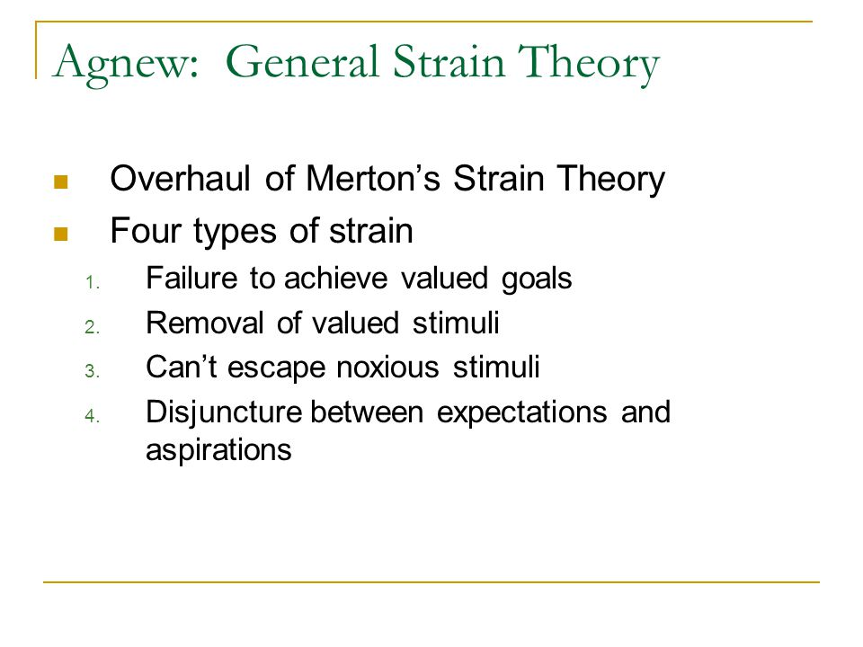 why people commit crime strain theory perspective Strain theory states that social structures within society may pressure citizens to commit crimes learning objectives apply merton's typology of deviance to the real world and give examples for each type.