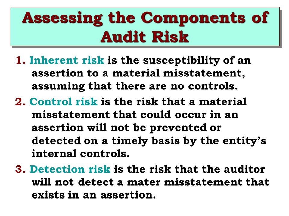 Assessing the Components of Audit Risk