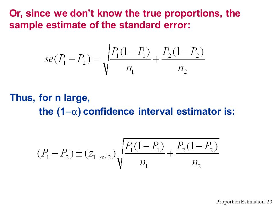 how to make a confidence interval for a estimator
